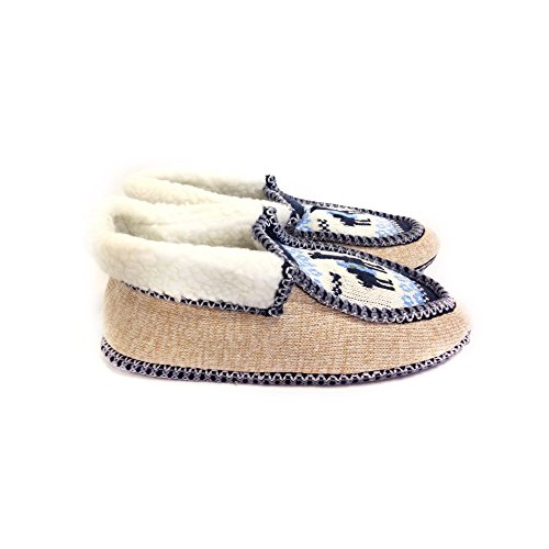 Handmade Argentina Moccasin Slippers Azul Salta Real Inside Argentino Wool from The EqZntzxa
