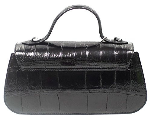 Baguette Strap M Womens Long W Clutch Authentic Belly Handbag Purse Bag Crocodile Skin pHzTZwwqxn