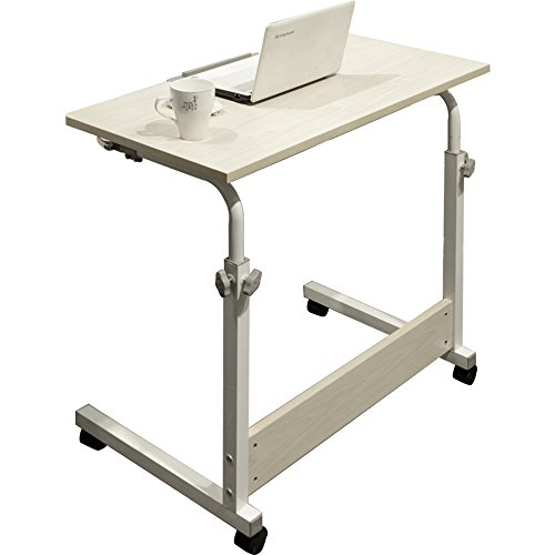 Tables YNN Bedside Folding Study Dining Desk Entertainment Lazy Bedside Computer Desk Multifunction 4 Sizes (Color : White Maple Color, Size : 8050cm)