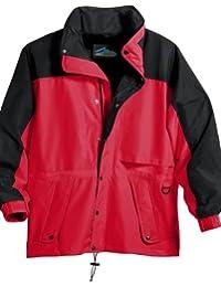 Tri-Mountain Mens Nylon Water Resist Lightweight Mesh Hooded Zipper Parka Jacket