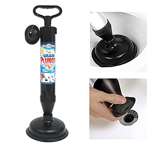 Hand Powered Air Pump Action Drain Plunger Unclog Toilets Sinks Tubs Showers ! (Hand Powered Tools)