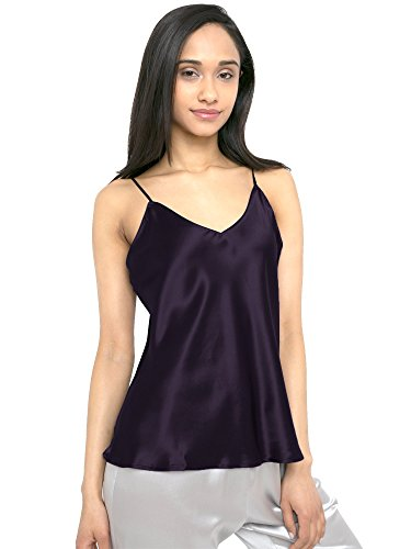 Racerback Silk Camisole - MYK 21 Momme 100% Pure Silk Camisole with Adjustable Strap for Women, 100% Mulberry Silk, Lightweight and Breathable