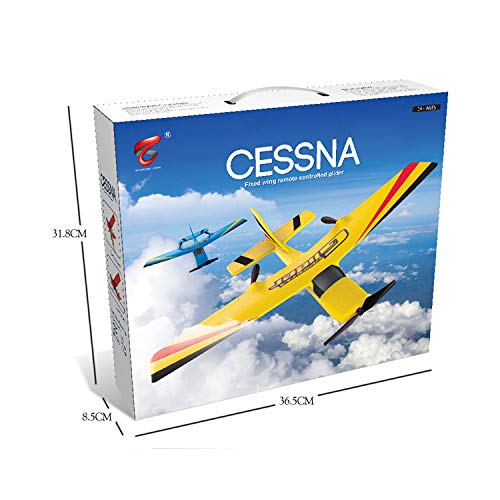 BeesClover RC Plane RTF 2CH 2.4G ZC-Z50 RC Airplane Model RC Glider Drones Outdoor Toys for Kid Boy Blue
