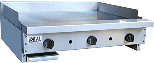 36'' Heavy Duty Flat Griddle Plate (Made in USA) by Ideal Commercial Cooking Products, Inc