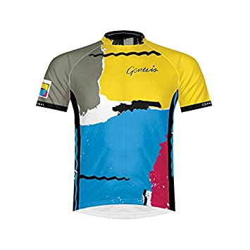 Primal Europe Bottled Genesis Abacab Men S Short-Sleeved Cycling Jersey  Multi-coloured Size  9958184e1