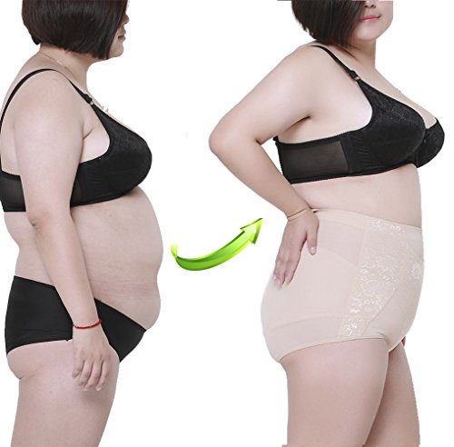 Max shape Women's High Waist Tummy Control Slim Shapewear Panty Plus Size Nude 5XL