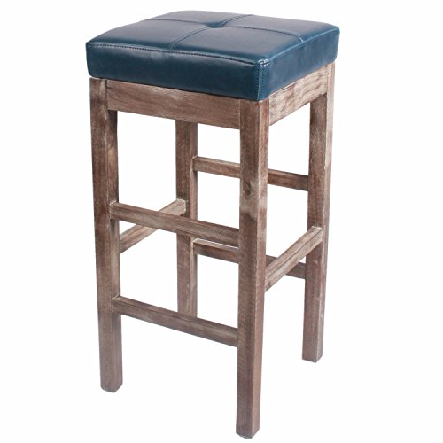 (New Pacific Direct Valencia Backless Bonded Leather Bar Stool 31
