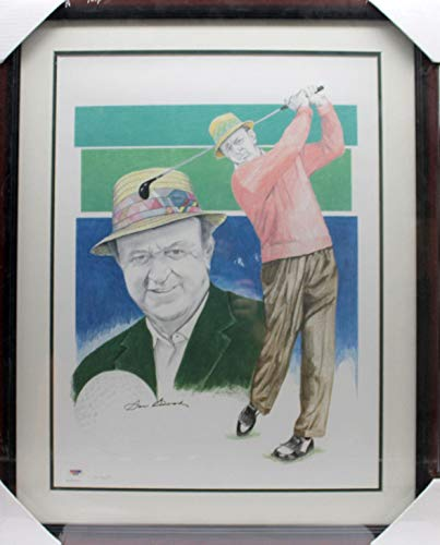 (Autographed Sam Snead Photograph - 18x24 Poster Framed Lmt Ed 161 2000 D75446 - PSA/DNA Certified - Autographed Golf Photos)