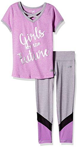 Marika Big Girls' 2 Piece Knit Top and Legging Set, Lilac Future, 10/12 by Marika