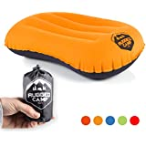 Rugged Camp Camping Pillow - Ultralight Inflatable Travel Pillows - Multiple Colors - Compressible, Lightweight, Ergonomic Neck & Lumbar Support - Perfect for Backpacking or Airplane Travel
