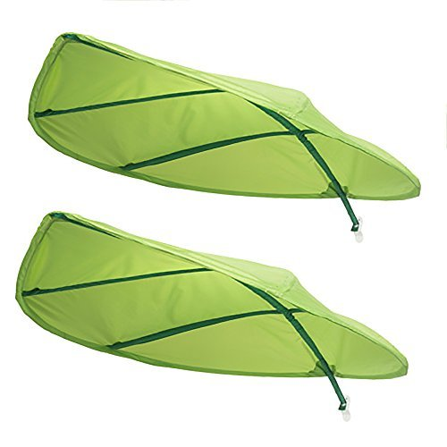 Ikea Green Leaf Lova Kid Bed Canopy - Latest 2017 IKEA Model Improved for Home and Office Use - Perfect for Diffusing Harsh Florescent Office Lighting - Short Stem (2-Pack) (Jungle Magnetic Blocks)