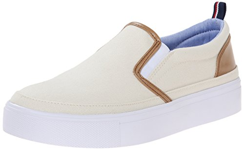 Tommy Hilfiger Women's Reina2 Fashion Sneaker, Cream, 8.5 M US