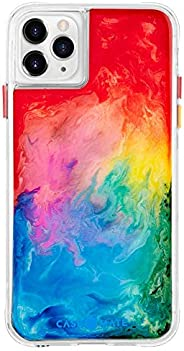 Case-Mate CM039408 iPhone 11 Pro Max Case - Tough Watercolor - Real Ink Swirl - 6.5 - Rainbow Splash