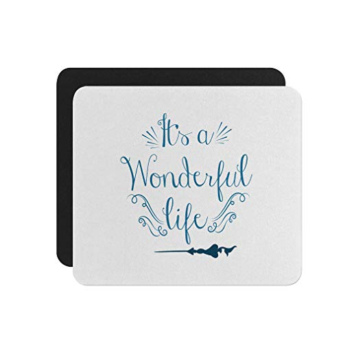 Mouse Pad It's a Wonderful Life Neoprene Office Mouse Mat - Square Shape