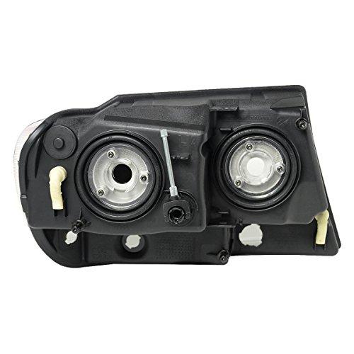 Jeep Grand Cherokee WJ Pair of Smoked Lens Clear Corner Headlight Lamps Kit