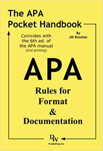 amazon com the apa pocket handbook rules for format