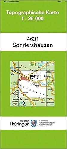 Topographische Karte Thüringen.Sondershausen 4631 Topographische Karten 1 25000 Tk 25 Thüringen