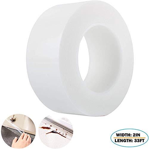 TYLife Caulk Strip Self Adhesive Waterproof Repair Tape for Bathtub Bathroom Kitchen Sink Basin Edge Shower Toilet Kitchen and Wall Mildew Sealing(2Inch Width x 33Feet Length)