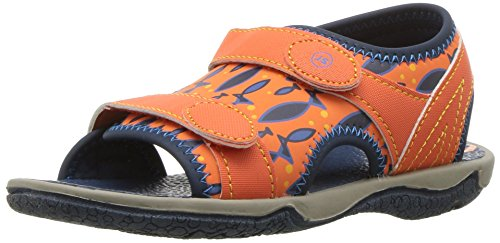 (Stride Rite Boys' Everett Sandal, Orange, 6 Medium US Toddler)