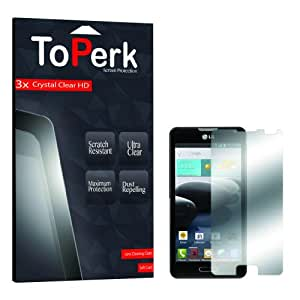 (3PCS) ToPerk Crystal Clear Screen Protector HD For LG Optimus F6 / D500 / MS500 (Include a Cystore Stylus Pen)