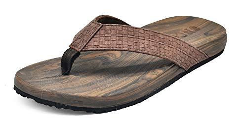 - ONCAI Mens Sandals Flip Flops Athletic Cushion Footbed Waterproof