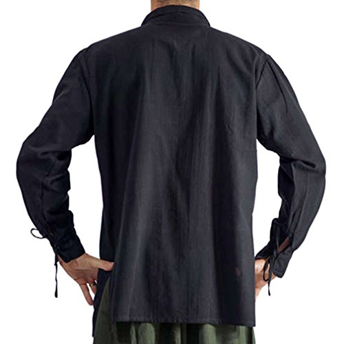 S Up Noir Les xl Yying Large Asiatique Médiévale Stand Col Costume Hommes Lace 2 Pirate Manchette Tops Couleurs COqxqgXw