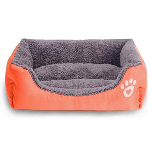 Krastal Dog Bed Large Pet Dog Cushion House Puppy Cat Soft Autumn Winter Warm Kennel Mat Washable Blanket ()