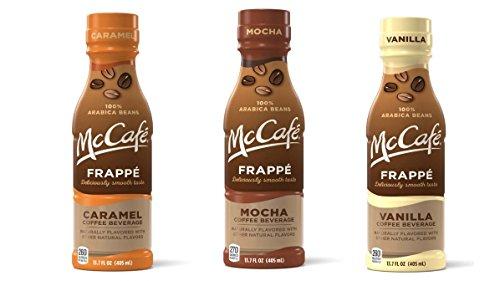 McCafe Frappe, Variety Pack: Vanilla, Mocha, Caramel, 13.7fl.oz.(Pack of 12)
