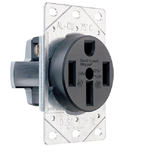 Legrand-Pass & Seymour 3894CC6 Flush Outlet 50-Amp 125-volt/250-volt Three Pole Four Wire