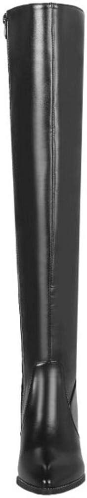 Zanpa Women Classic Fringe Boots Knee Boots Zipper