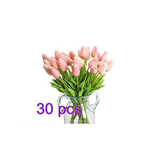 - 30Pcs Pu Fake Artificial Tulips Flores Artificiales Bouquets Party Real-Touch Artificial Flowers for Home Wedding Decoration,2