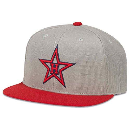 American Needle 400 Series Pacific Coast League Baseball Cap, Hollywood Stars, Grey/Red (400A1V-HOS)