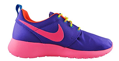 Nike Rosherun Violet Youths Trainers 599729 502 Hyper Grape/Hyper Pink-Hyper Crimson