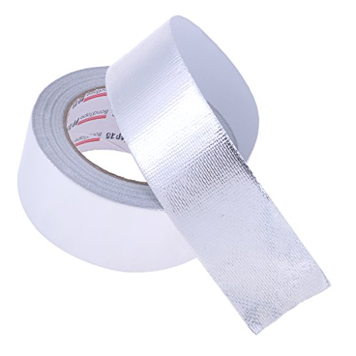 MagiDeal Quality 1 Roll Aluminium Foil Tape 50mm x 25m Duct Self Adhesive Heat Moisture Insulation