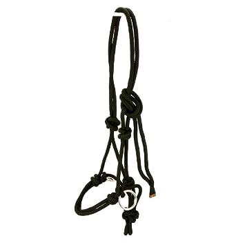 Knotenhalfter mit Ringen aus Edelstahl Halter Reiten Bodenarbeit schwarz
