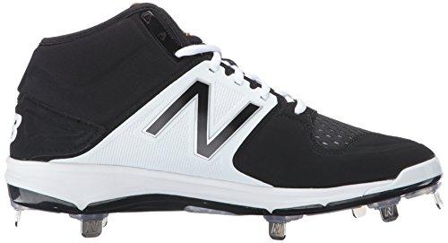 Nouvelle Chaussure Baseball En Métal De Mens Équilibre Du Noir / Blanc