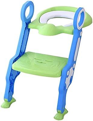 Glenmore Asientos Adaptador WC Escalera WC Orinal Bebe Reductor (Verde): Amazon.es: Bebé