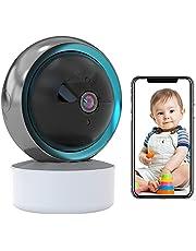 Babyfoon, wifi, IP-camera, bewakingscamera, voor binnen, werkt met Alexa, automatische tracking, wifi, huisdiercamera, HD 1080P, nachtzicht, iOS/Android, app-alarm, 2-weg audio, bewegingsdetectie 【camera】