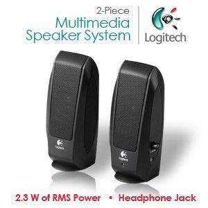 Logitech S-120 2-Piece 2 Channel Multimedia Speaker System w
