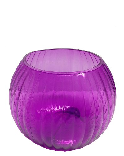 5 1/2in Poly Plastic Violet Classic Rose Bowl (Plastic Fish Bowl Containers)