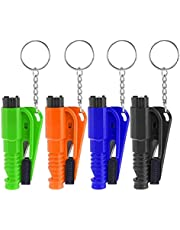 SANNOBEL Emergency Car Kit with Key chain, 4 Pcs Emergency Escape Tool, Safety Window Glass Hammer for Cars, Car Seat Belt Cutter