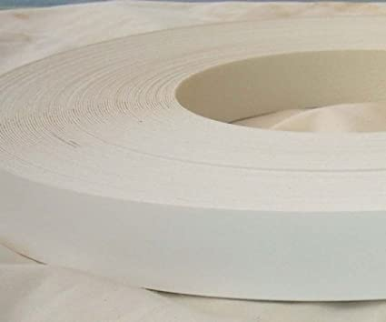 Pre Glued Iron on White Smooth Melamine Edging Tape 22mm wide x 25 Metres.Free Postage
