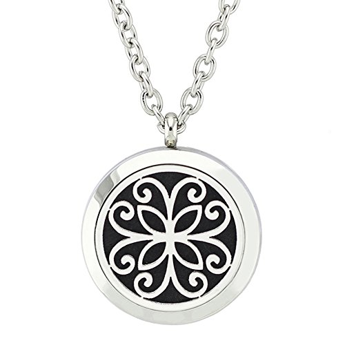 Mother Nature Costume Homemade (Jenia Jewelry Aromatherapy Essential Oil Diffuser Necklace Locket Pendant 316L Stainless Steel Jewelry)