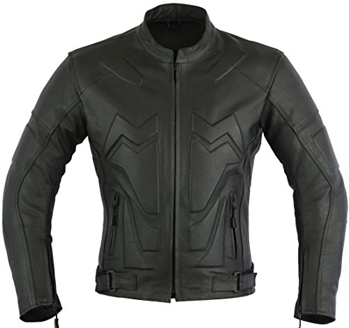 Chopper Leather Motorbike Protection Jacket Extra Padded, M