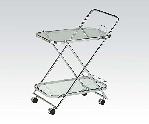 27' Bathroom Vanity (Brand New Gerwin 27''x19''x31''H Chrome Plated Service Cart w/ 5mm Tempered Clear Glass)