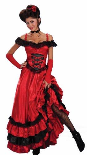 Forum Novelties Women's Saloon Sweetie Costume, Red, (Burlesque Red Costume)