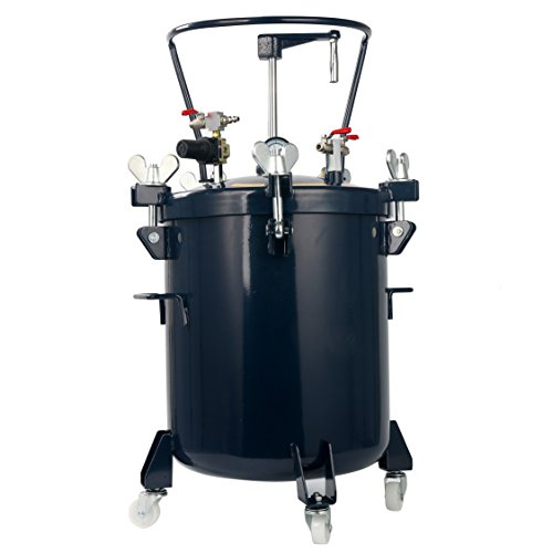 - YaeTek Commercial 10 Gallon (40 Liters) Spray Paint Pressure Pot Tank with Manual Mixing Agitato