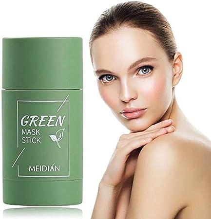 Mascarilla de limpieza profunda, mascarilla exfoliante activada, limpieza profunda de poros,mascarilla purificadora de té verde para, control de grasa e hidratación(verde)