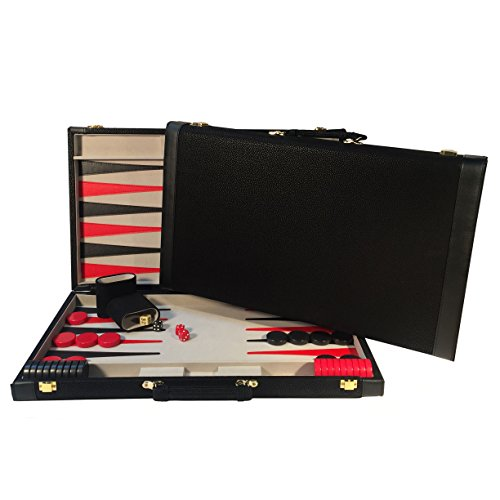 Elvis Presley Chess Set - Wood Expressions WE Games Backgammon Tournament Board - Large 21 Inch Set - Black Faux Suede