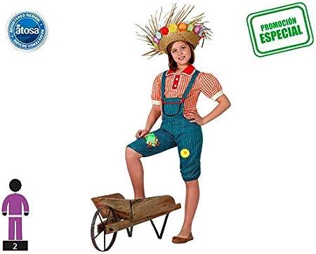 Atosa - Disfraz de granjera para niña, talla 5-6 años (16021)